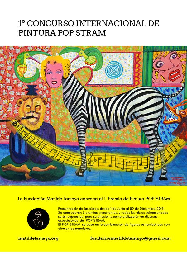 cartel concurso web - Convocatoria del primer Premio de Pintura Pop Stram 2018
