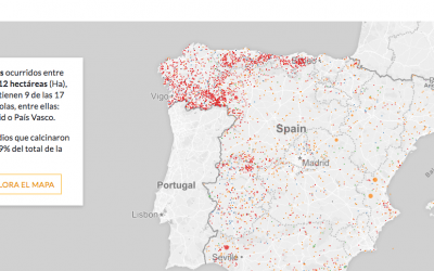 La Fundación CIVIO publica el mapa de los incendios forestales