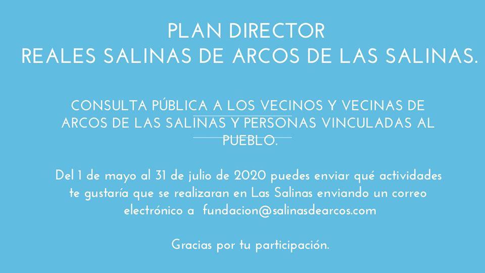 Consulta Publica 2 - La Fundación Reales Salinas de Arcos prepara su Plan Director de restauración de las salinas